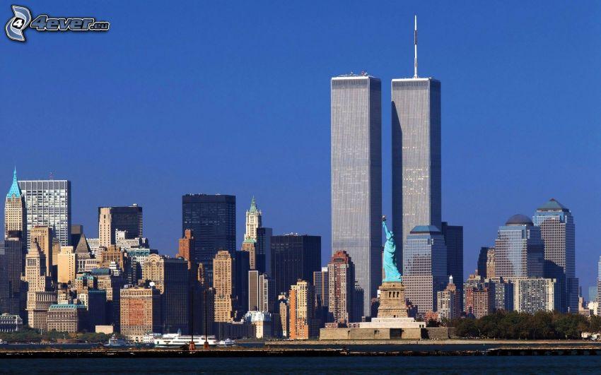 World Trade Center, Statua della Libertà, New York