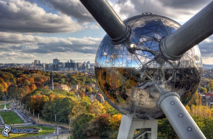 Atomium, Bruxelles, parco