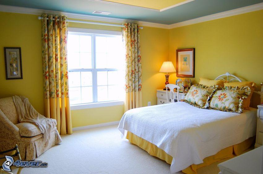 camera da letto, letto matrimoniale, finestra