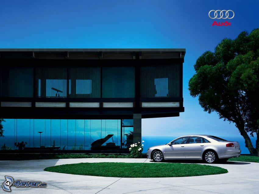 casa di lusso, Audi A8, vista sul mare