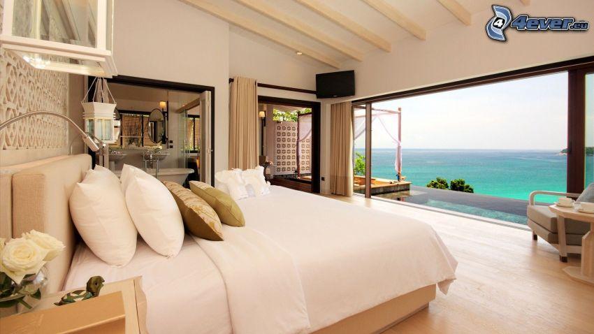 casa di lusso, camera da letto