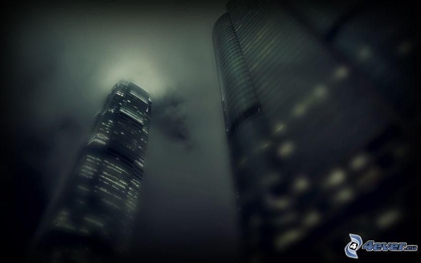 grattacieli, notte