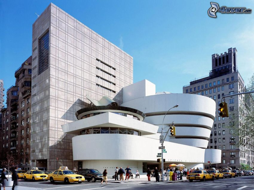 Guggenheim Museum, museo, New York, taxi