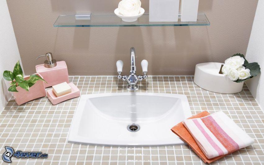 lavandino, Asciugamani, bagno