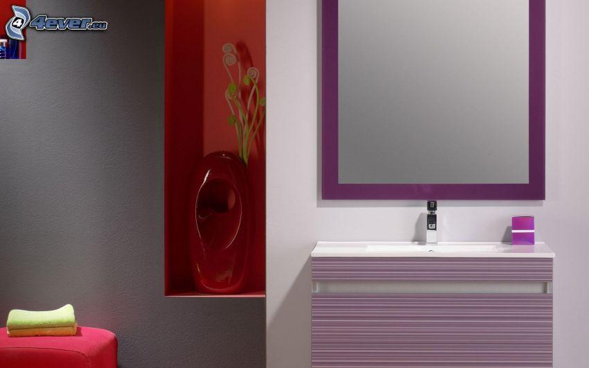 lavandino, specchio