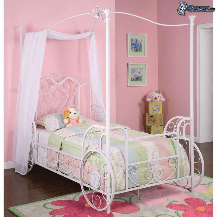 letto, camera di bambini