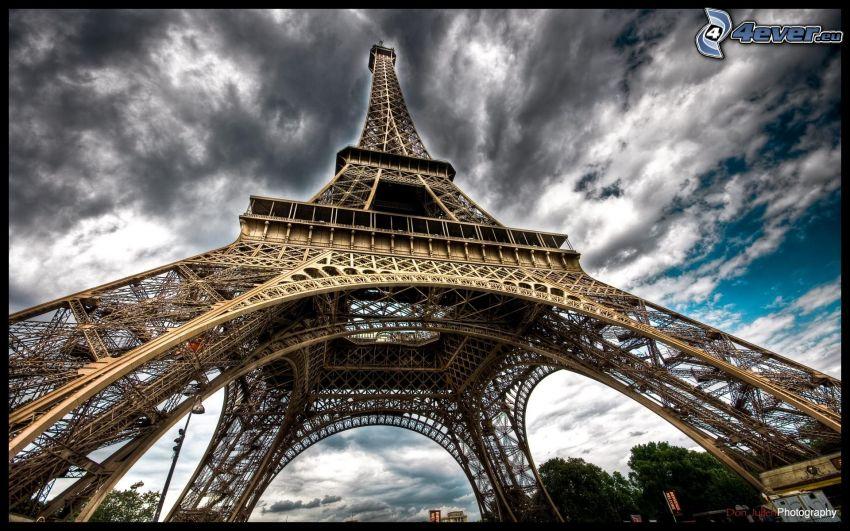 Torre Eiffel, HDR, nuvole