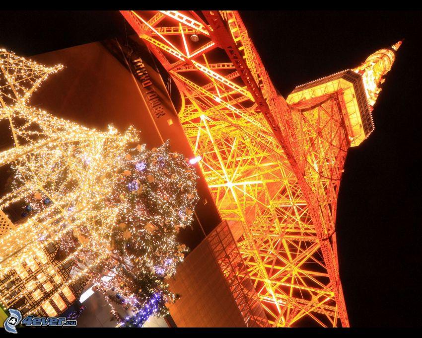 Torre Eiffel, illuminazione, Tokyo
