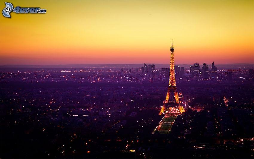 Torre Eiffel, Parigi, luci