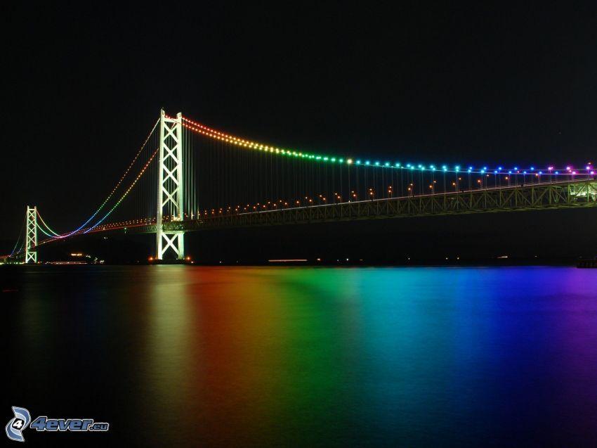 Akashi Kaikyo Bridge, ponte illuminato
