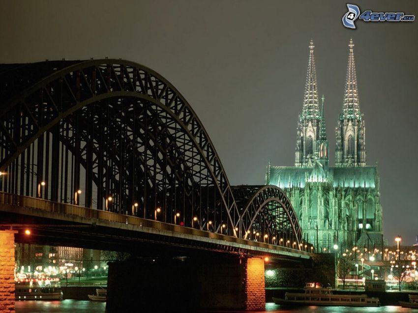 Colonia, Hohenzollern Bridge, Duomo di Colonia, cattedrale, ponte