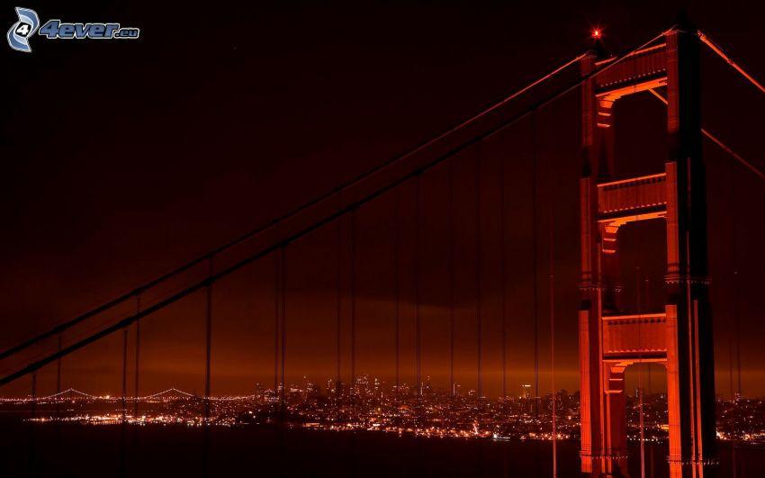 Golden Gate, città notturno
