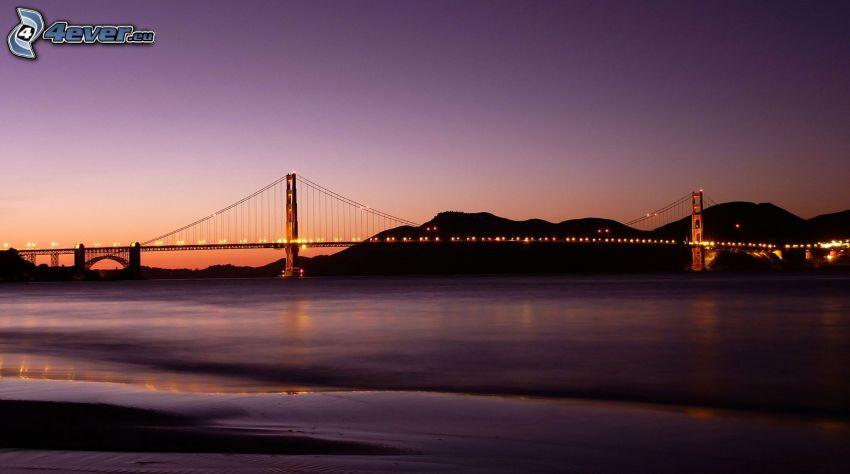 Golden Gate, ponte illuminato