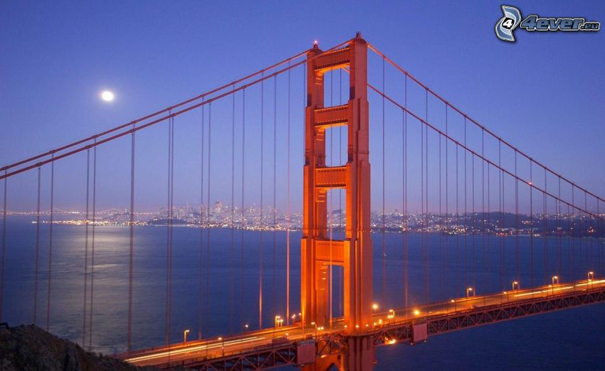 Golden Gate, San Francisco, luna