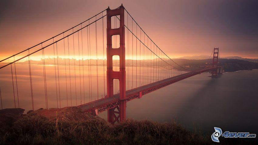 Golden Gate, tramonto