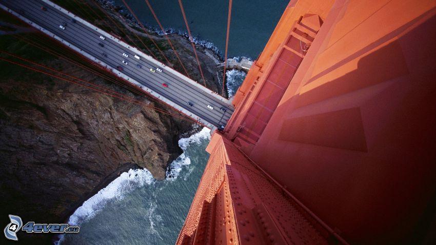 Golden Gate, veduta, strada