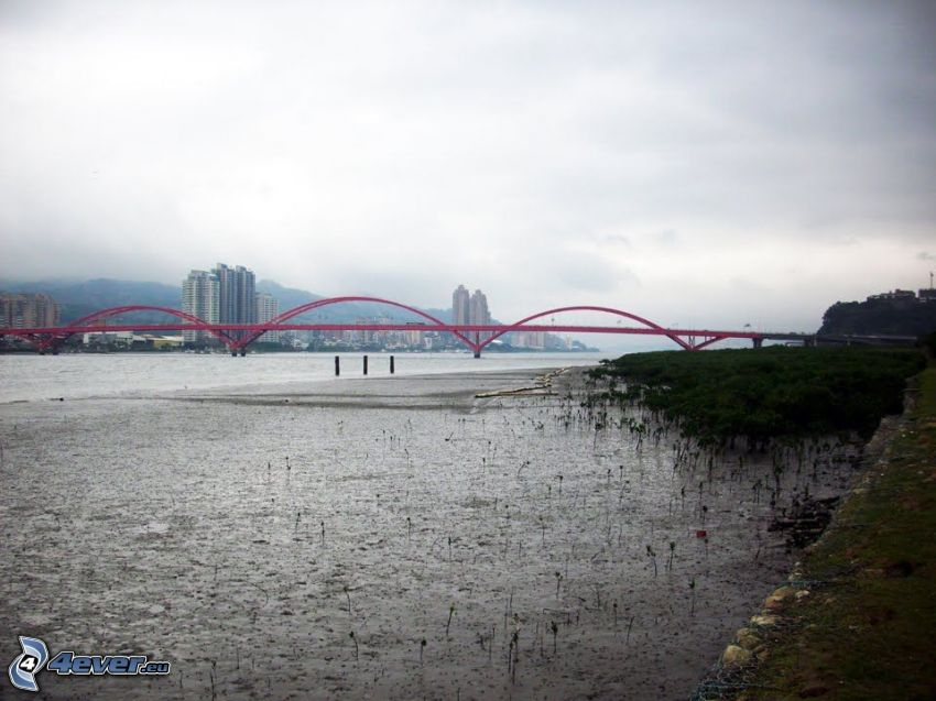 Guandu Bridge, grattacieli