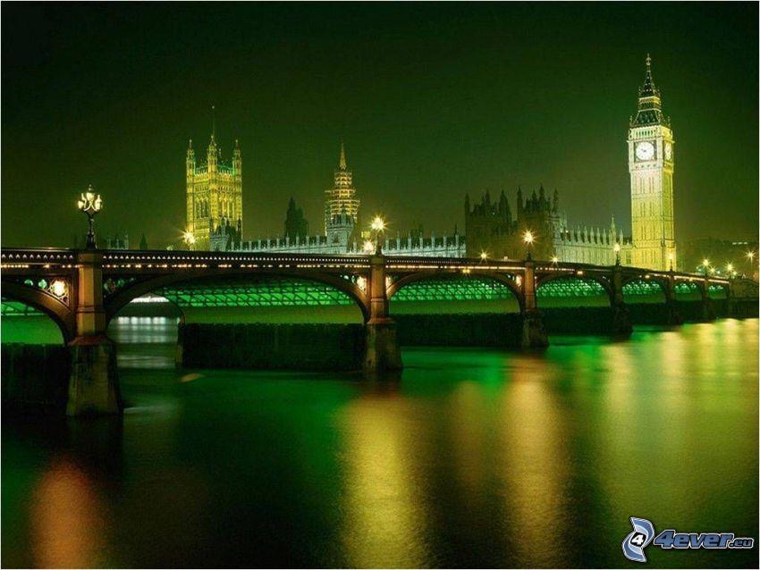 Londra, Big Ben, Tamigi, Palazzo di Westminster, Parlamento britannico, ponte