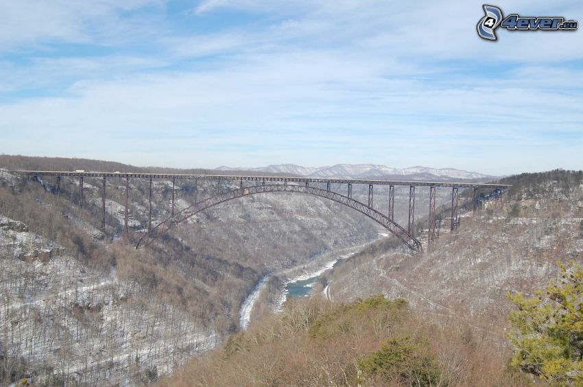 New River Gorge Bridge, montagne