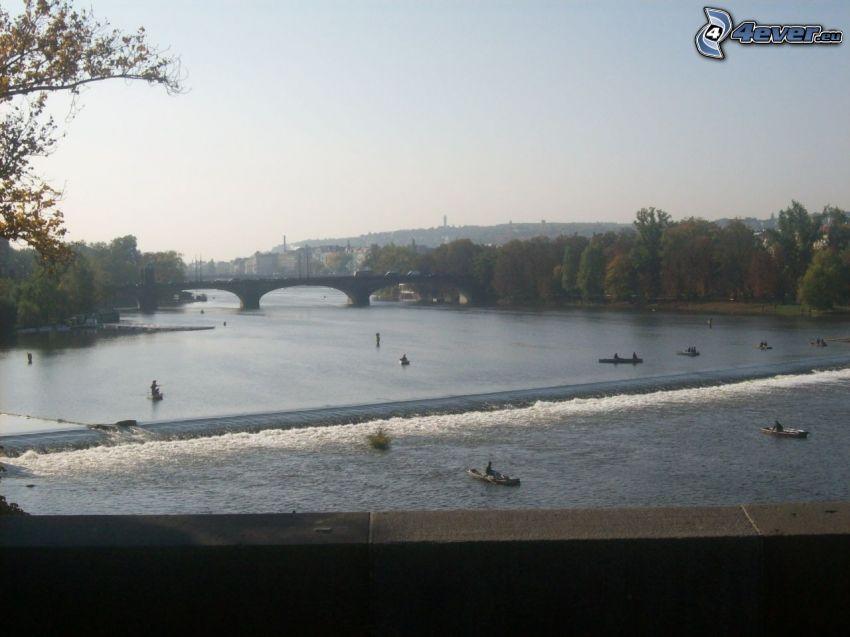 Ponte delle Legioni, Moldava, Praga, il fiume, lungomare