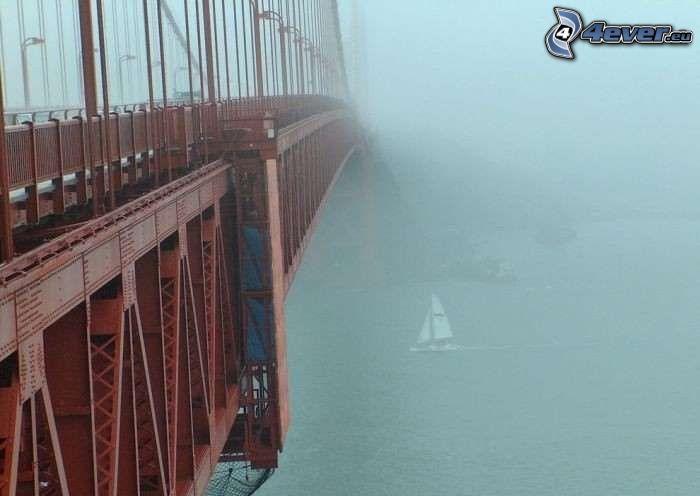 ponte di ferro, nebbia