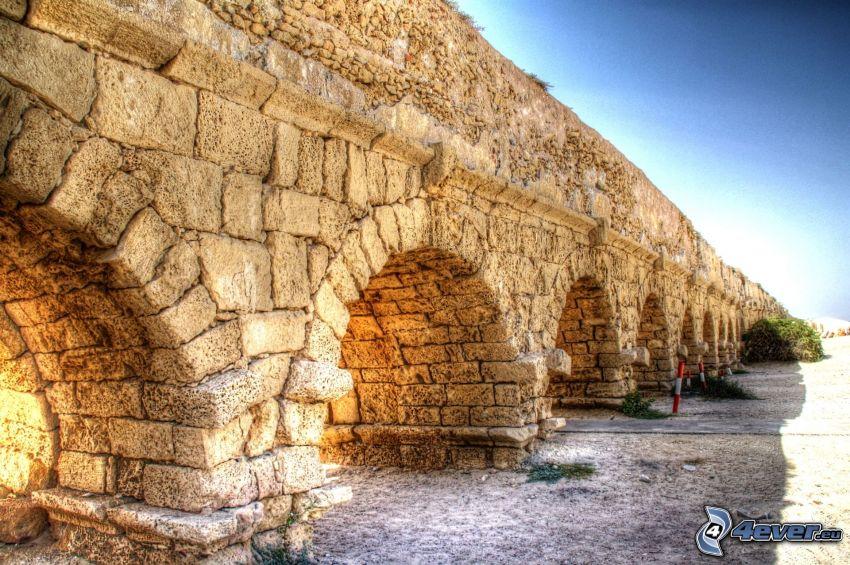 ponte di pietra, HDR
