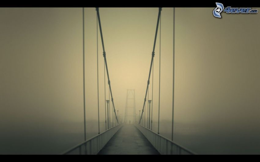 ponte in nebbia