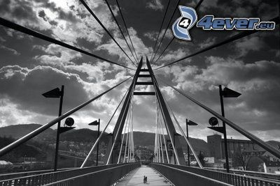 ponte pedonale, cielo, nuvola