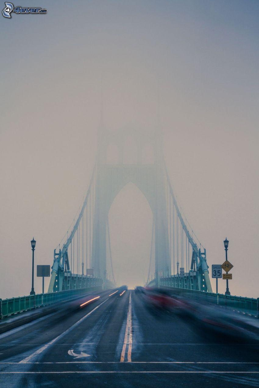 St. Johns Bridge, nebbia, velocità