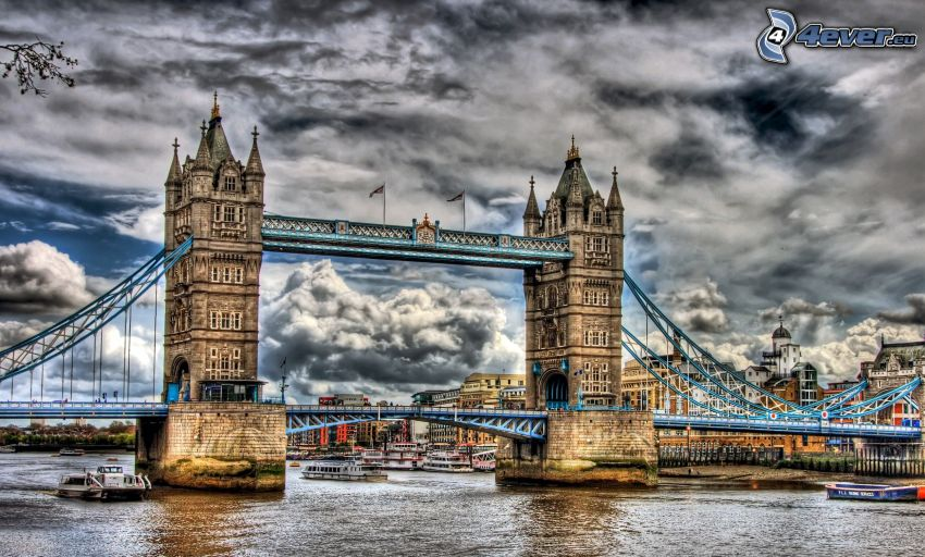 Tower Bridge, HDR, cielo
