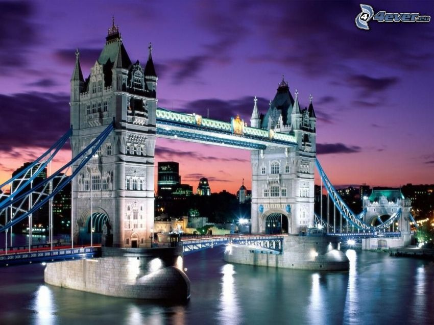 Tower Bridge, ponte, Londra, Inghilterra