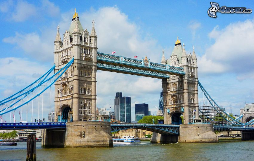 Tower Bridge, Tamigi, Londra