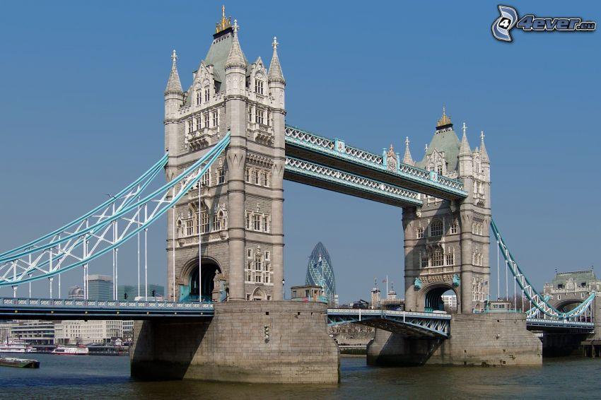 Tower Bridge, Tamigi, Londra