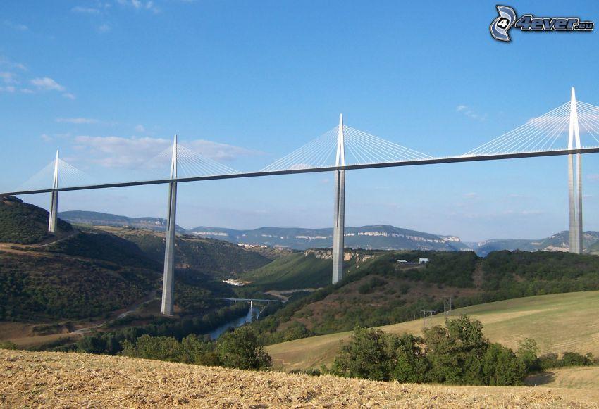 Viadotto di Millau, ponte dell'autostrada, Francia