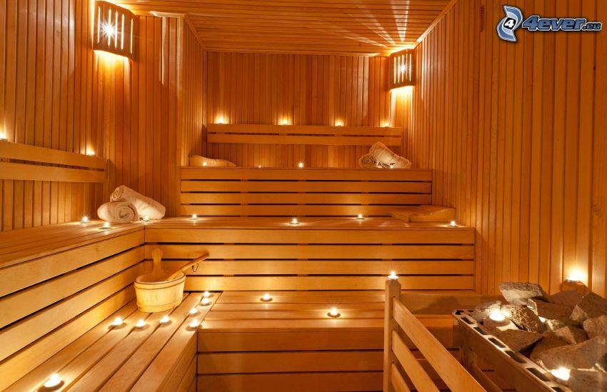 sauna, candele