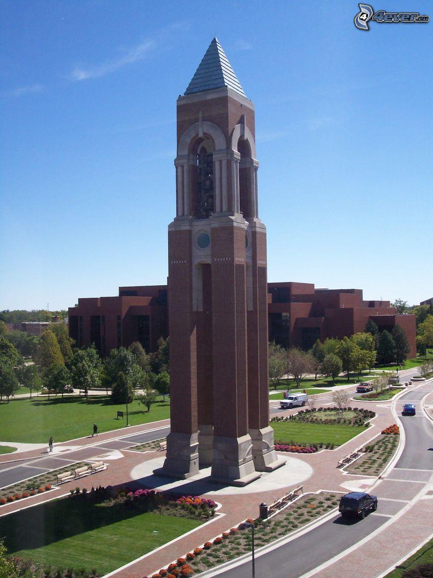 Shafer Tower, campanile, rotatoria