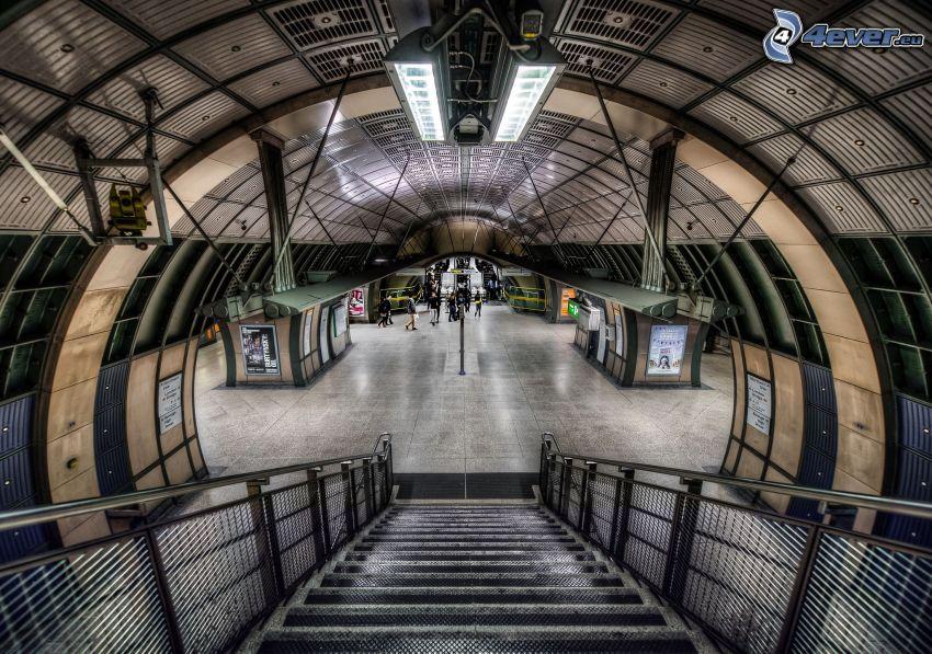 stazione del metro, HDR