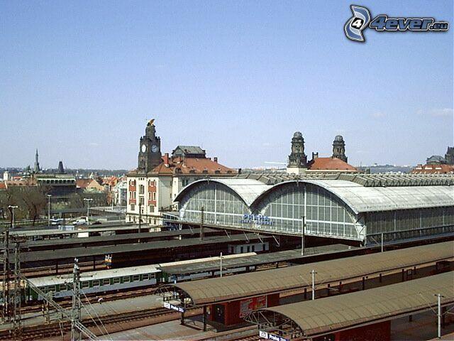 stazione ferroviaria, Praga, treno