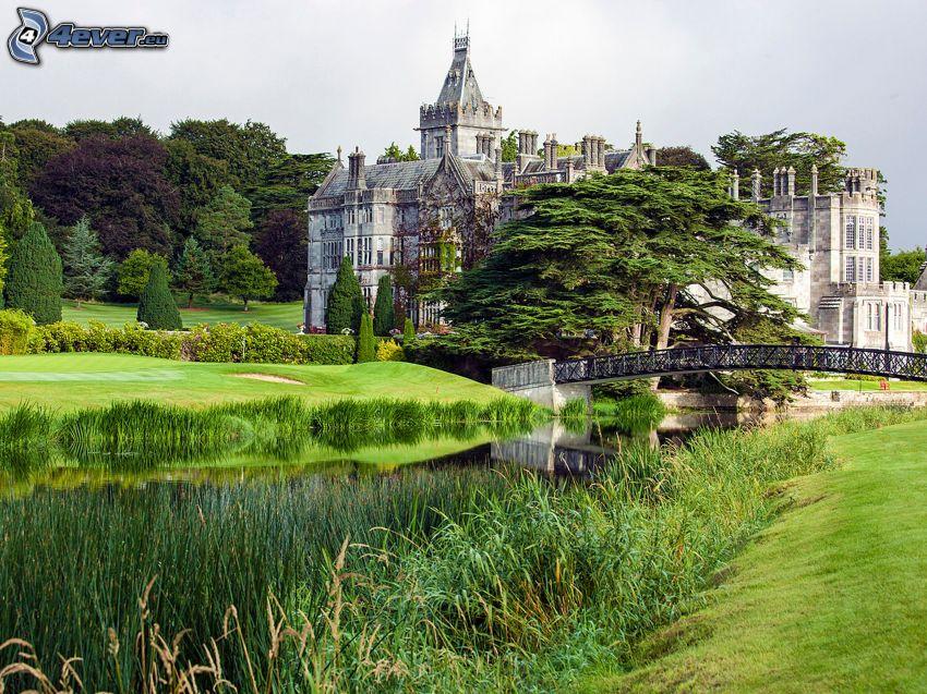 Adare Manor, hotel, giardino, parco, ponte