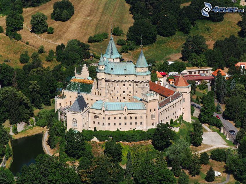castello Bojnice, alberi