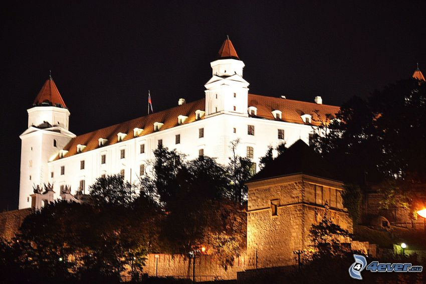 Castello di Bratislava, notte
