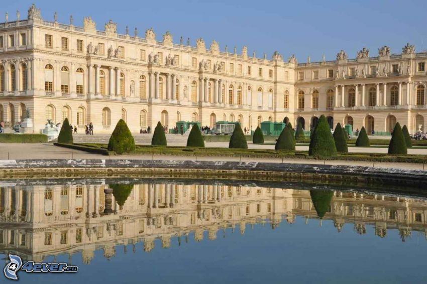 Castello Versailles, lago, riflessione