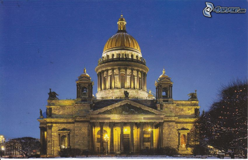 Cattedrale di Sant'Isacco, San Pietroburgo, notte