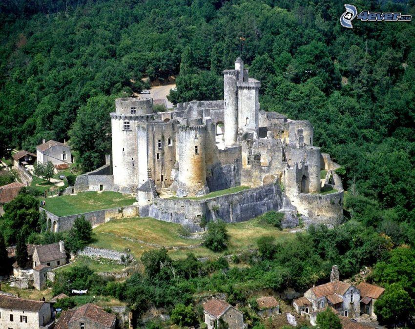 château de Bonaguil, foresta