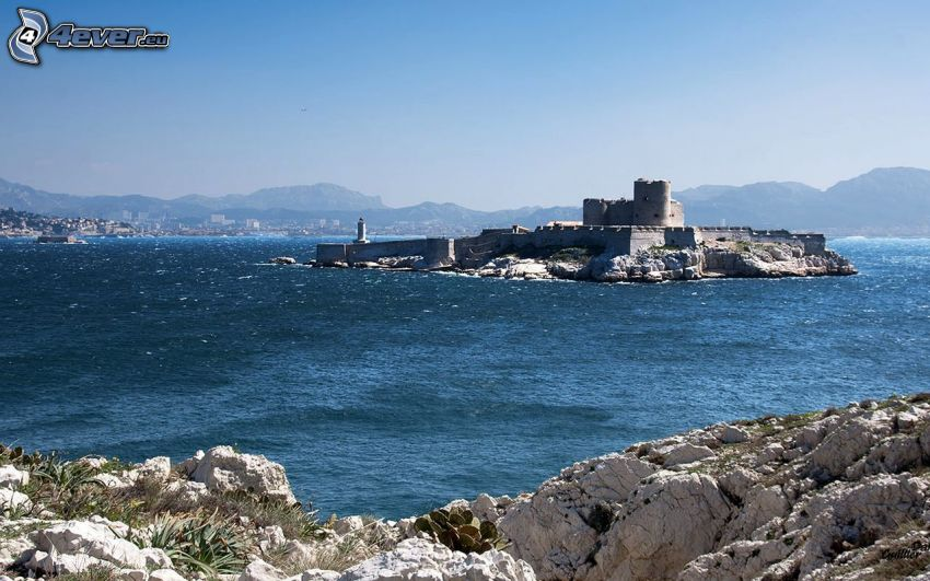 Château d'If, mare, rocce, isola
