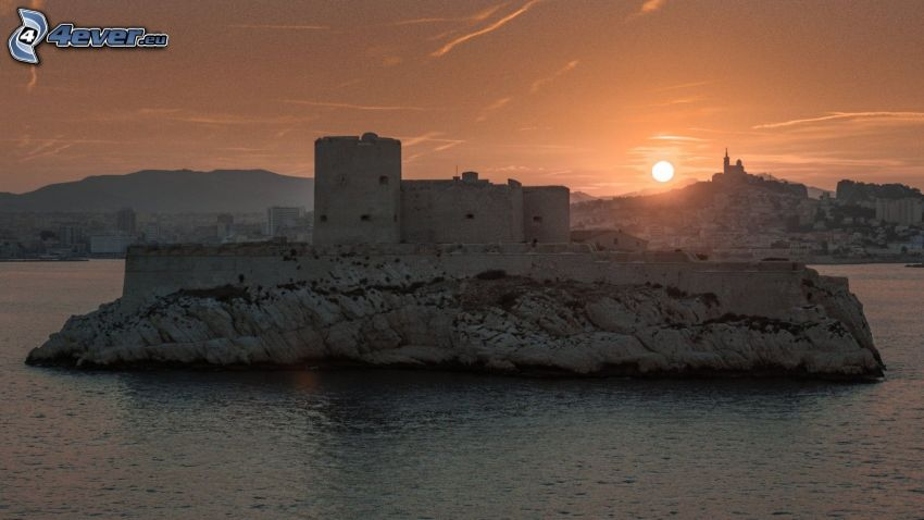 Château d'If, tramonto