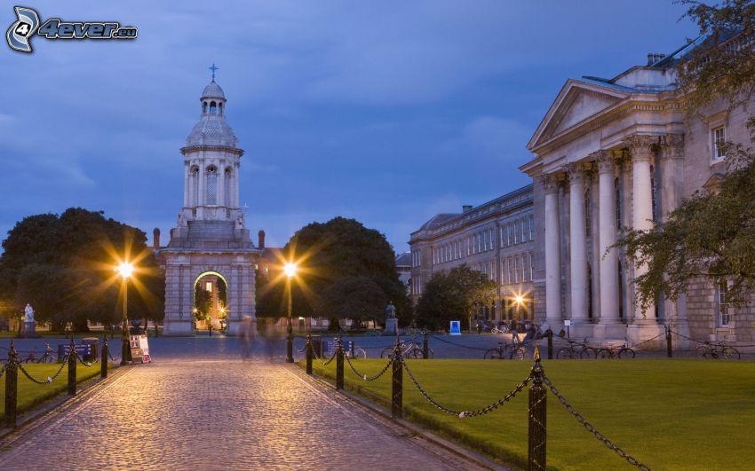 Dublino, Irlanda, piazza, palazzo