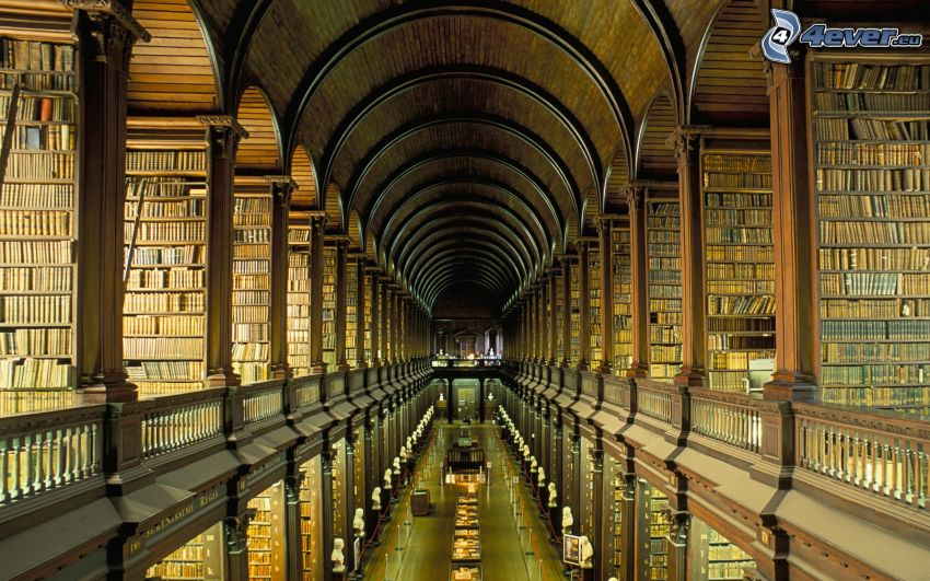 grande biblioteca, libri