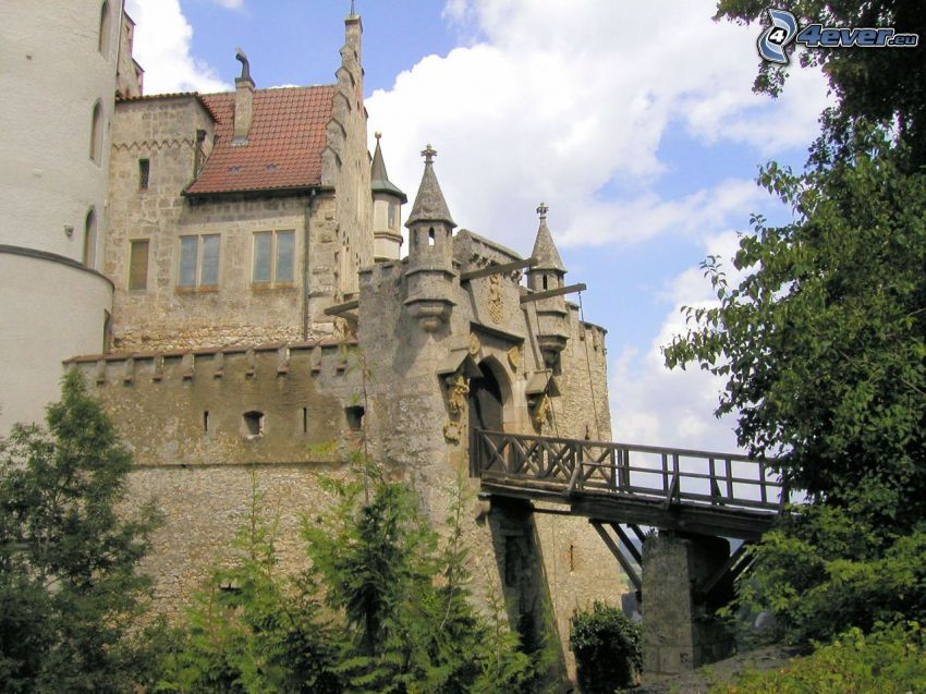 Lichtenstein Castle, ponte di legno