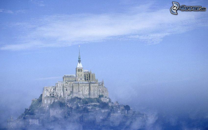 Mont Saint-Michel, Parigi, Francia, nebbia